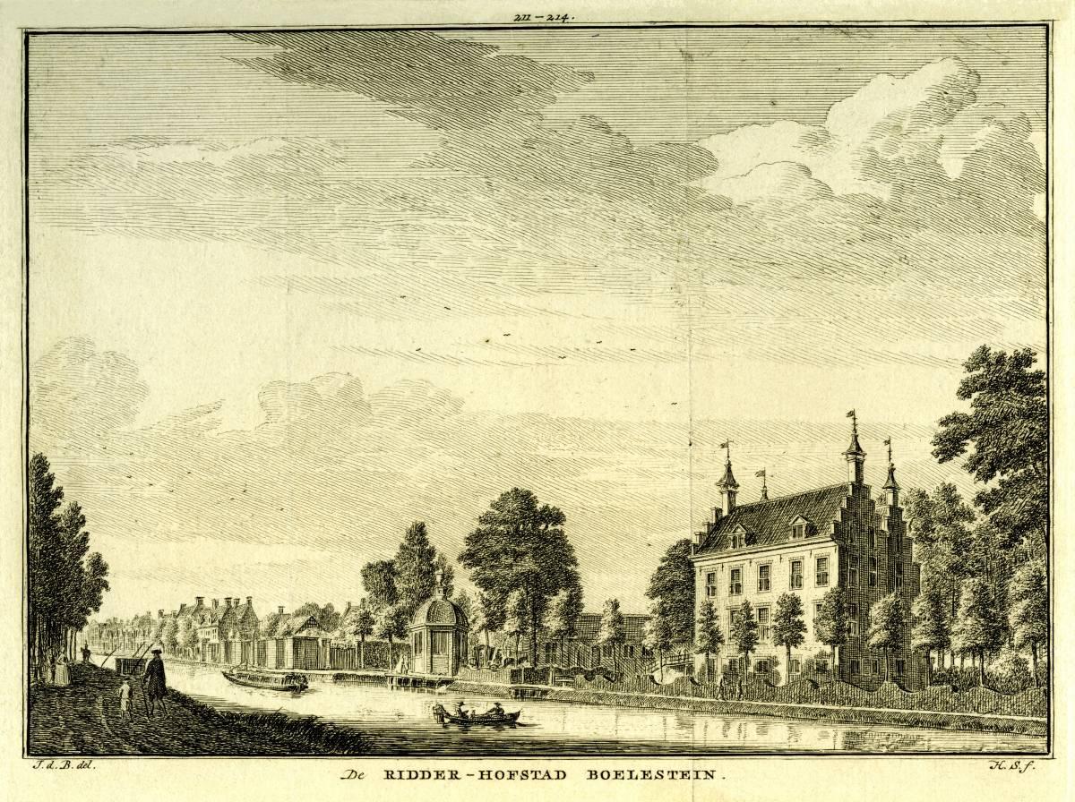 Bolenstein in Maarssen. Tekening Jan de Beijer, gravure Hendrik Spilman (Uit: Het Verheerlykt Nederland, Isaac Tirion, 1745/1774)